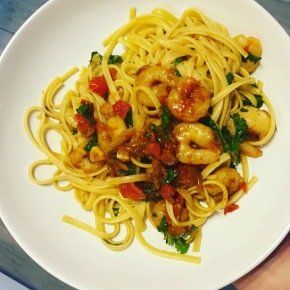 Recipe: Garlic Prawn Pasta