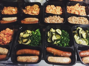 Meal Prep Idea: Ema Datchi with Sausages, Buckwheat and Kale and Courgettes